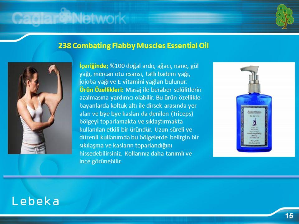 15 238 Combating Flabby Muscles Essential Oil İçeriğinde; %100 doğal ardıç ağacı, nane, gül yağı, mercan otu esansı, tatlı badem yağı, jojoba yağı ve