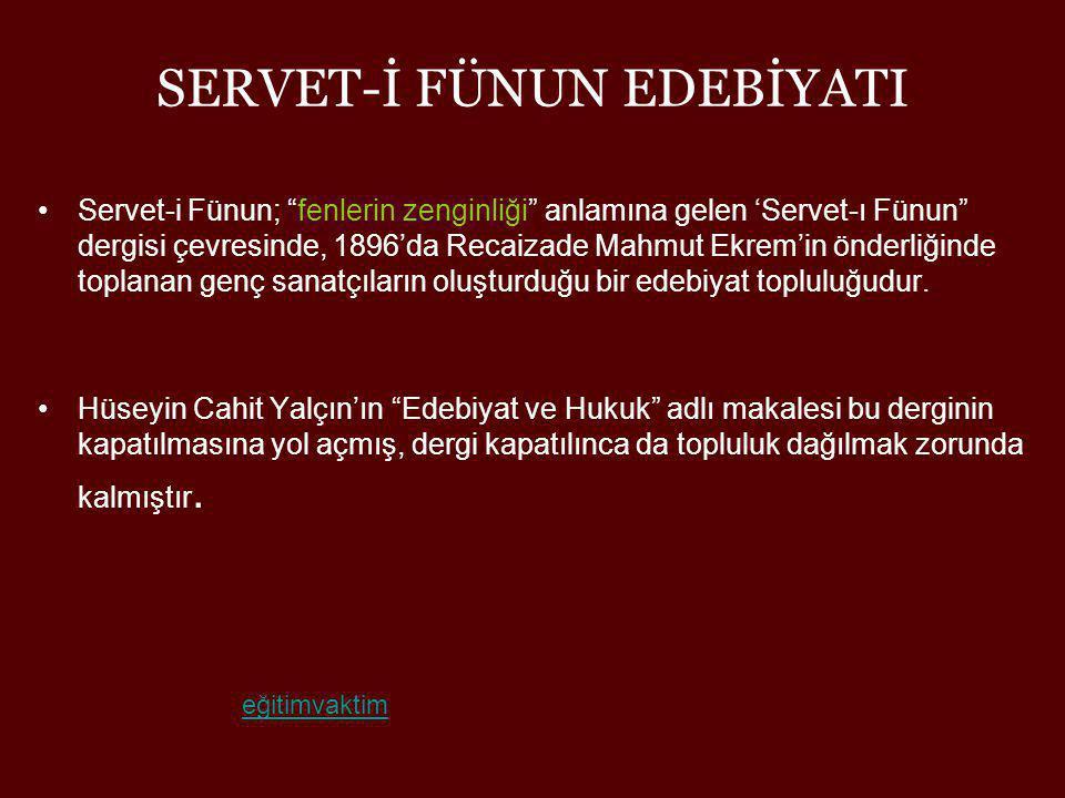 MEHMET RAUF(1875 - 1931) •Servet-i Fünun romanının ikinci büyük ismidir.