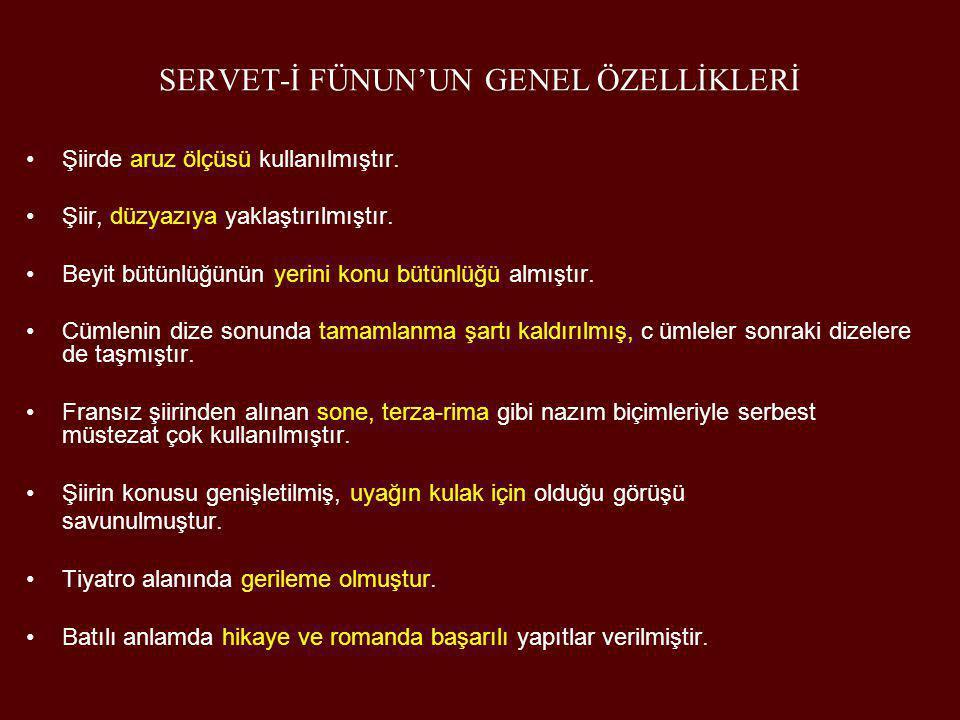 AHMET HAŞİM (1883 - 1933) •Edebiyatımızda sembolizmin en önemli temsilcisidir.