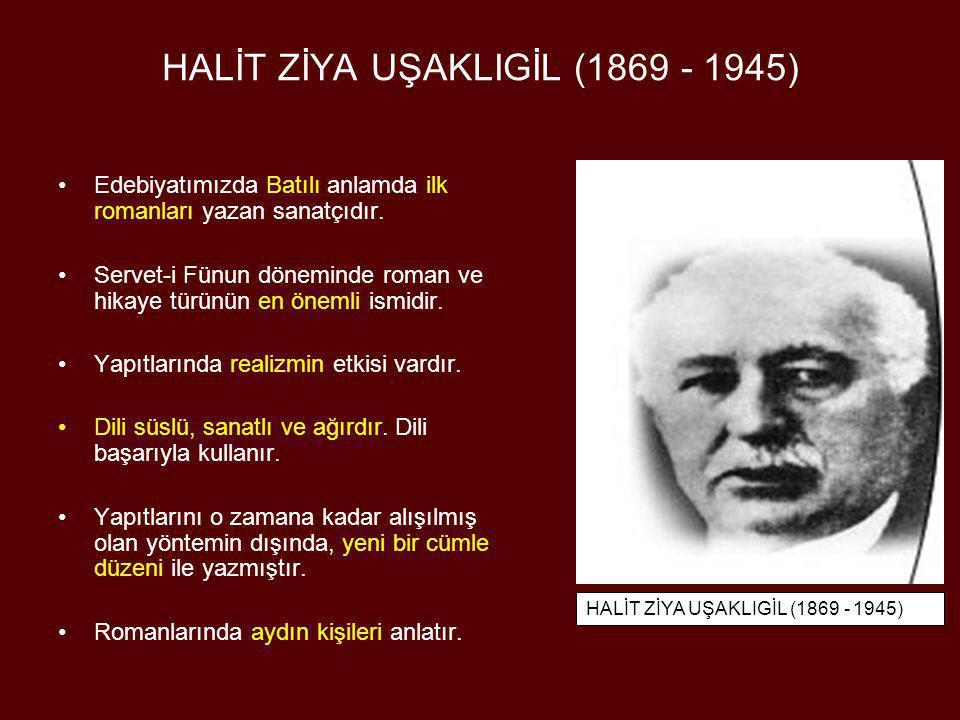 AHMET RASİM (1852 - 1937) •Ahmed Mithat Efendi'nin edebi çizgisini izlemiş, döneminin güçlü edebiyat topluluğu olan Servet-i Fünun'un içinde yer almamıştır.