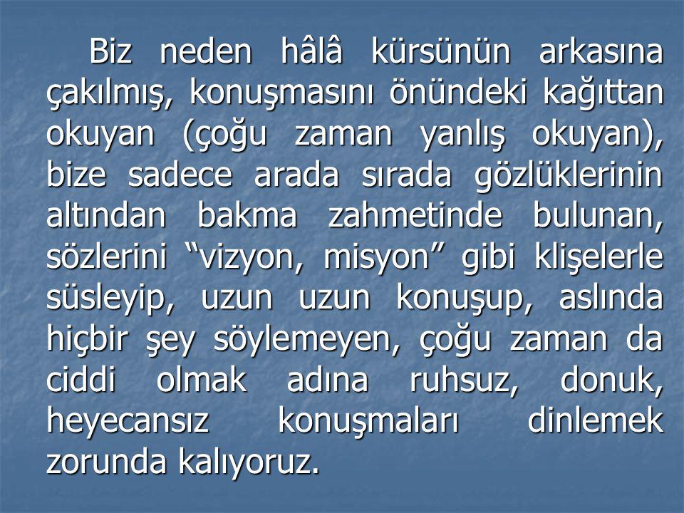 Samimi, inançlı ve mert devlet adamı Gazi Mustafa Kemal ATATÜRK'ün, onca kargaşanın içerisinde, vatanın işgal edildiği yıllarda bölge bölge gezip Anadolu insanını Kurtuluş Savaşı'na hazırlaması, onun dahi bir hatip olduğunu gösterir.