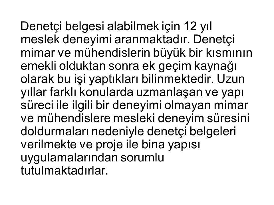 Sonuç: EMO Ankara Şubesi olarak tüm duyarlı kamuoyunu, kamunun haklarını ve çıkarlarını savunan TMMOB nin iradi gücü ile Yapı Denetçilerinin gücünün bir araya getirilerek kamu adına denetim yapılması mücadelesini hep birlikte sürdürmeye çağırmaktayız.