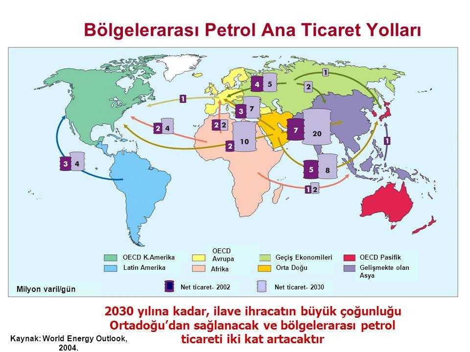 2030 yılına kadar bölgelerarası gaz ticareti, üç kat artacaktır.