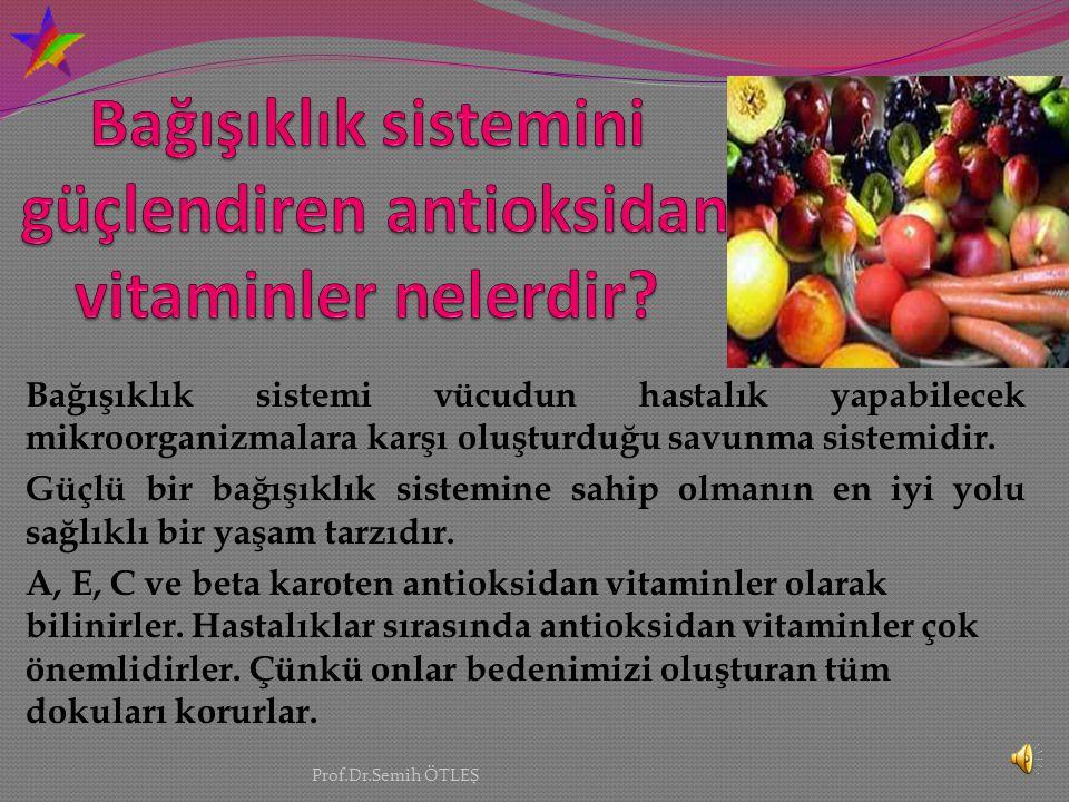 Vücut hücreleri tarafından üretildiği gibi, gıdalarla da alınan bir grup kimyasal maddedir. Vücudumuzda bulunan antioksidanlar, serbest radikallere ka