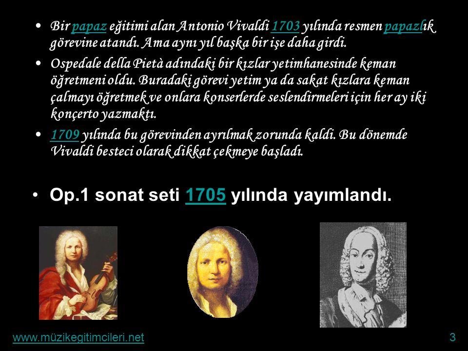 Antonio Vivaldi •Antonio Vivaldi, Giovanni Vivaldi ve Camillo Calichio'nun ilk çocuğu olarak 1678'te Venedik'te dünyaya geldi.1678Venedik •Lakabı Kızı
