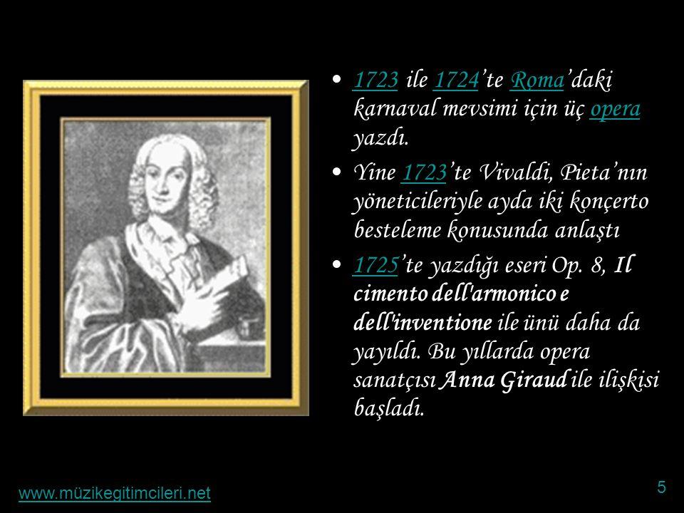 •1709'da Op.2 keman sonatını Danimarka Kralı IV.