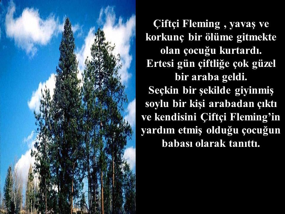 Çiftçi Fleming, yavaş ve korkunç bir ölüme gitmekte olan çocuğu kurtardı.