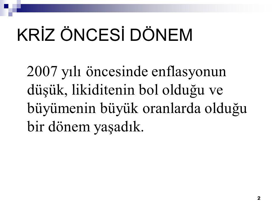 23 KRİZDEN ÇIKIŞ İÇİN  Türkiye ekonomisinde üretim ile istihdamı rekabet edebilir bir konuma getirebilmemiz için sanayi politikası üretmemiz şart.