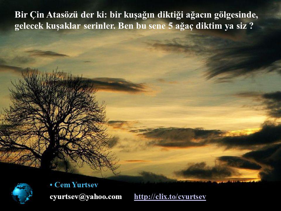 Tabiata saygı aklın vicdanıdır. M.Kemal Atatürk