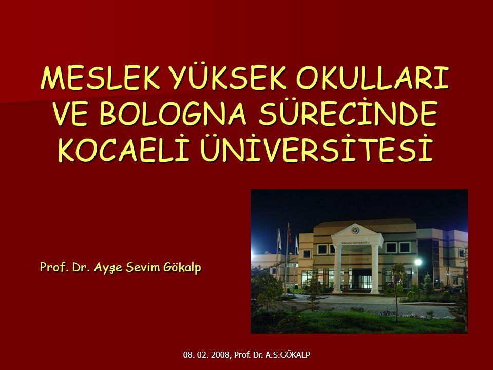 08.02. 2008, Prof. Dr. A.S.GÖKALP 22 YETERLİLİKLER ÇERÇEVESİ GENEL OLARAK NELERDEN OLUŞUR.