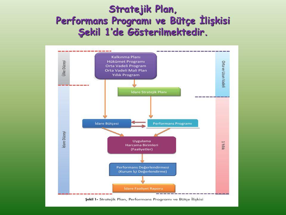 Stratejik Plan, Performans Programı ve Bütçe İlişkisi Şekil 1'de Gösterilmektedir.