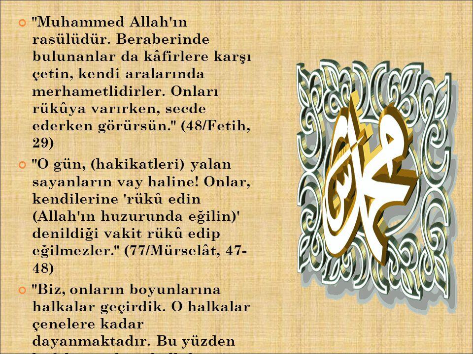 Muhammed Allah ın rasülüdür.
