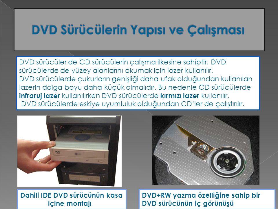 DVD sürücüler de CD sürücülerin çalışma ilkesine sahiptir. DVD sürücülerde de yüzey alanlarını okumak için lazer kullanılır. DVD sürücülerde çukurları