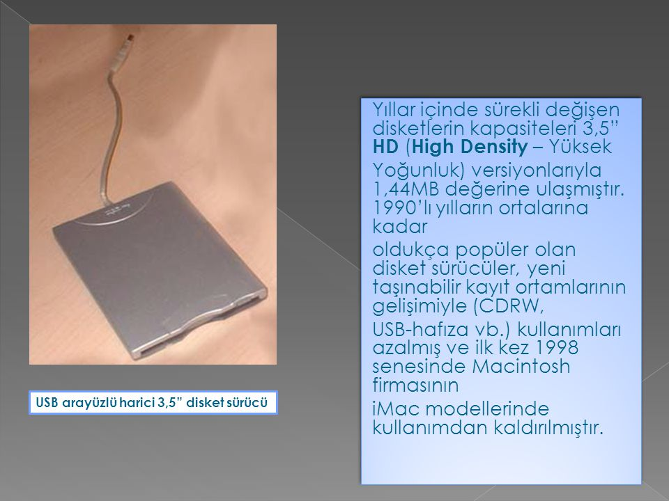 PC'ler için hard disk sürücüler geliştirilmediği dönemlerde floppy sürücüler işletim sistemini taşımak amacıyla kullanılmaktaydı.