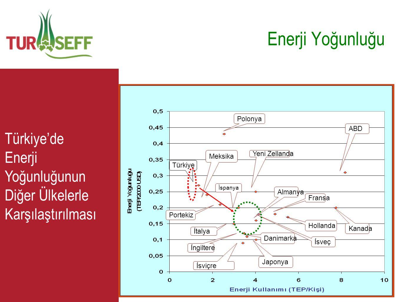 C Enerji Yoğunluğu Türkiye Meksika Polonya Portekiz İtalya İspanya İsviçre Japonya İngiltere Almanya Yeni Zellanda Fransa Hollanda İsveç Kanada ABD Da
