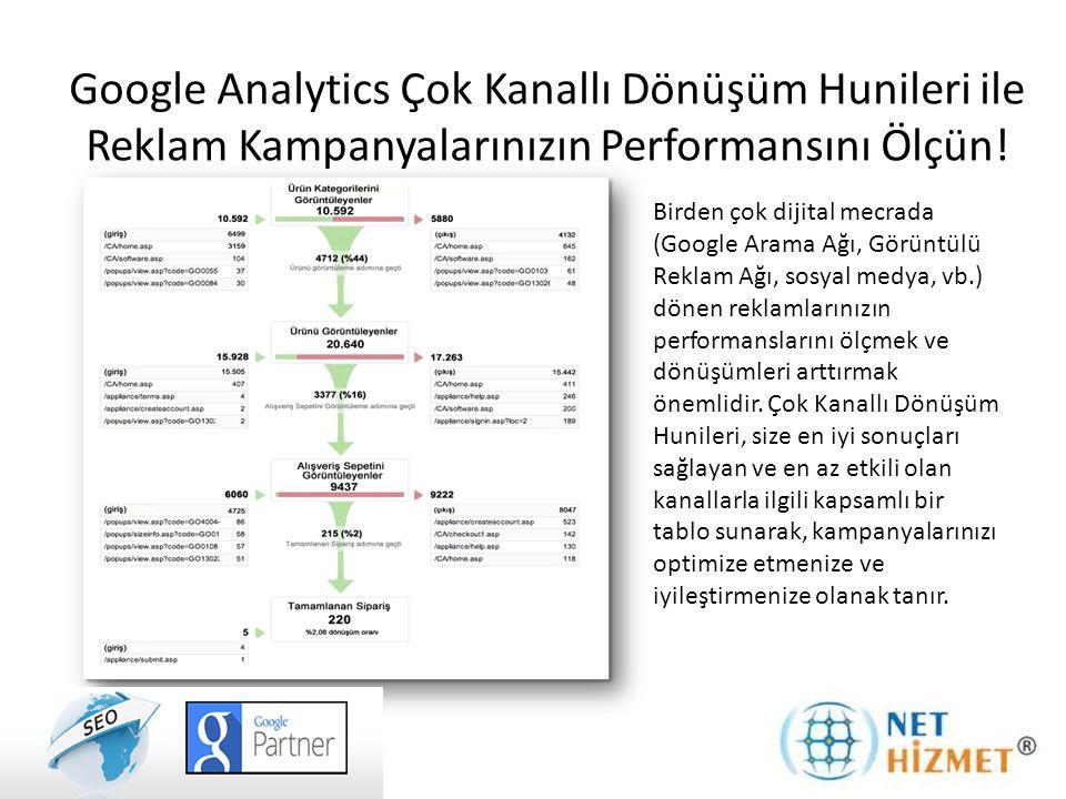 Google Analytics Çok Kanallı Dönüşüm Hunileri ile Reklam Kampanyalarınızın Performansını Ölçün! Birden çok dijital mecrada (Google Arama Ağı, Görüntül