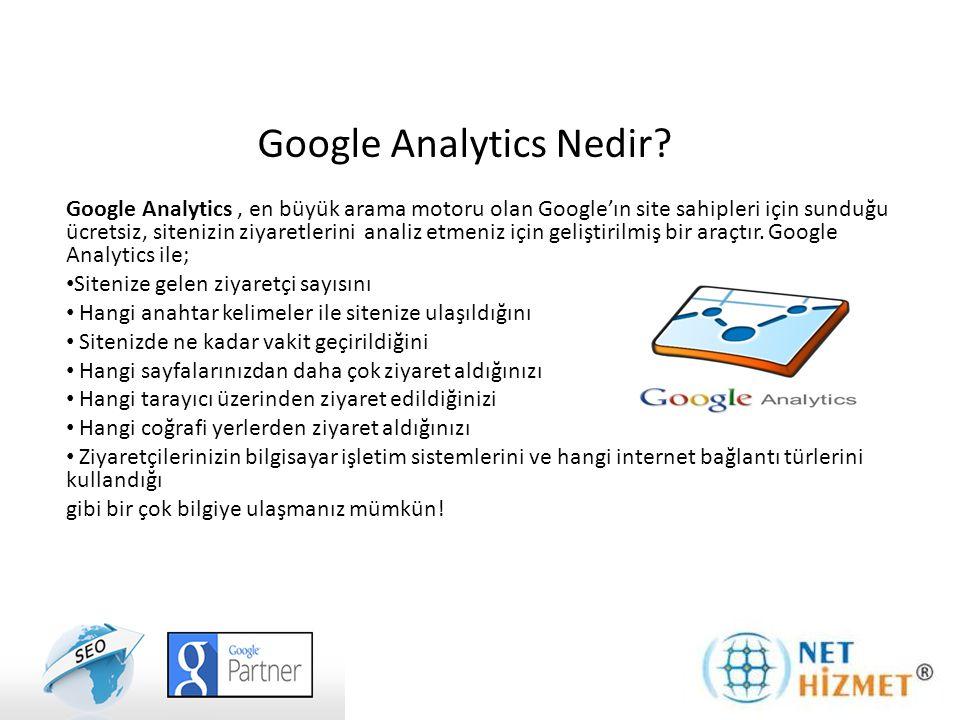 Google Analytics Nedir? Google Analytics, en büyük arama motoru olan Google'ın site sahipleri için sunduğu ücretsiz, sitenizin ziyaretlerini analiz et