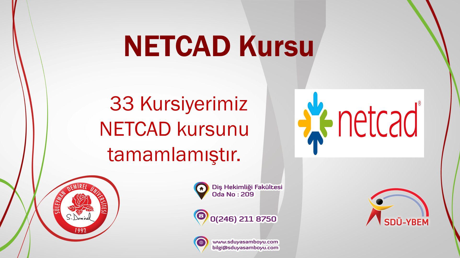 NETCAD Kursu 33 Kursiyerimiz NETCAD kursunu tamamlamıştır.