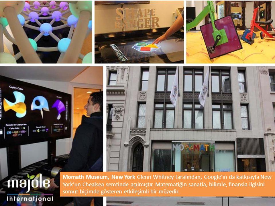 Momath Museum, New York Glenn Whitney tarafından, Google'ın da katkısıyla New York'un Chealsea semtinde açılmıştır.