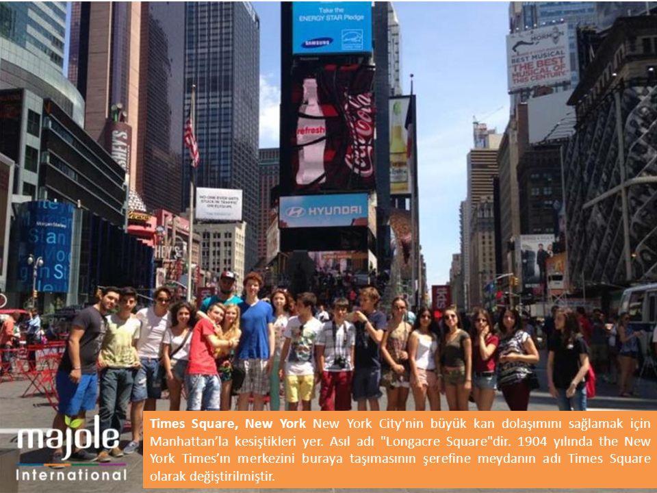 Times Square, New York New York City nin büyük kan dolaşımını sağlamak için Manhattan'la kesiştikleri yer.