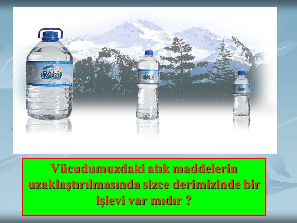 Günde yaklaşık 2 litre su içmemiz öğütlenir.