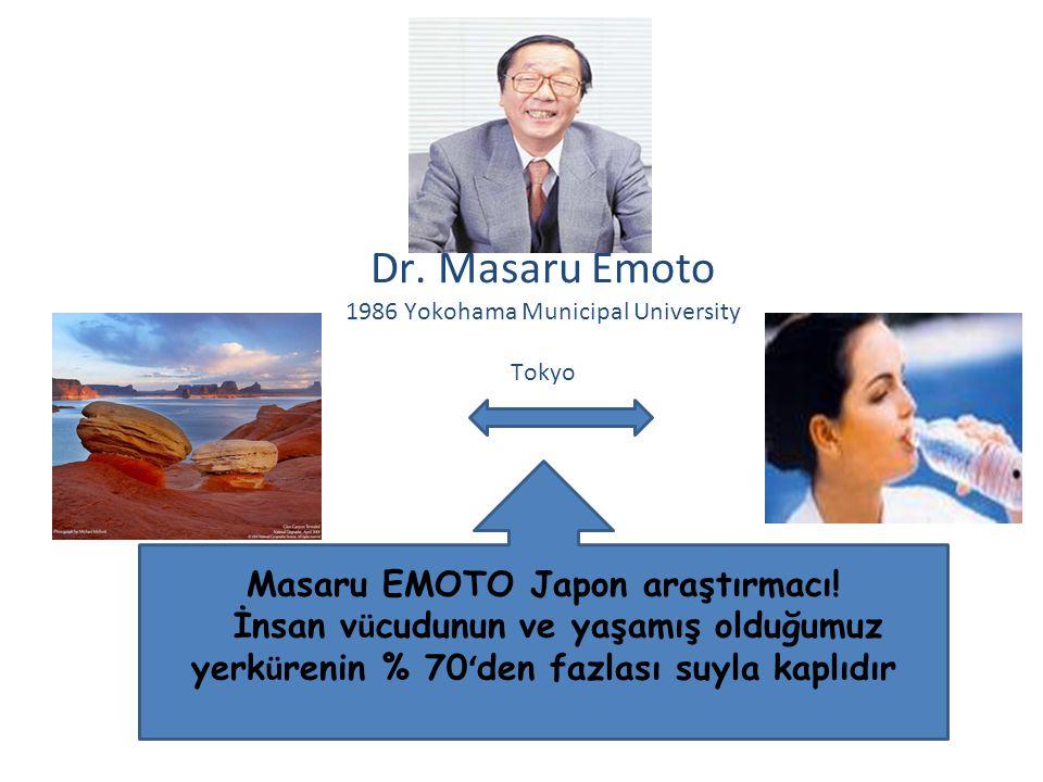 Masaru EMOTO Japon araştırmacı.