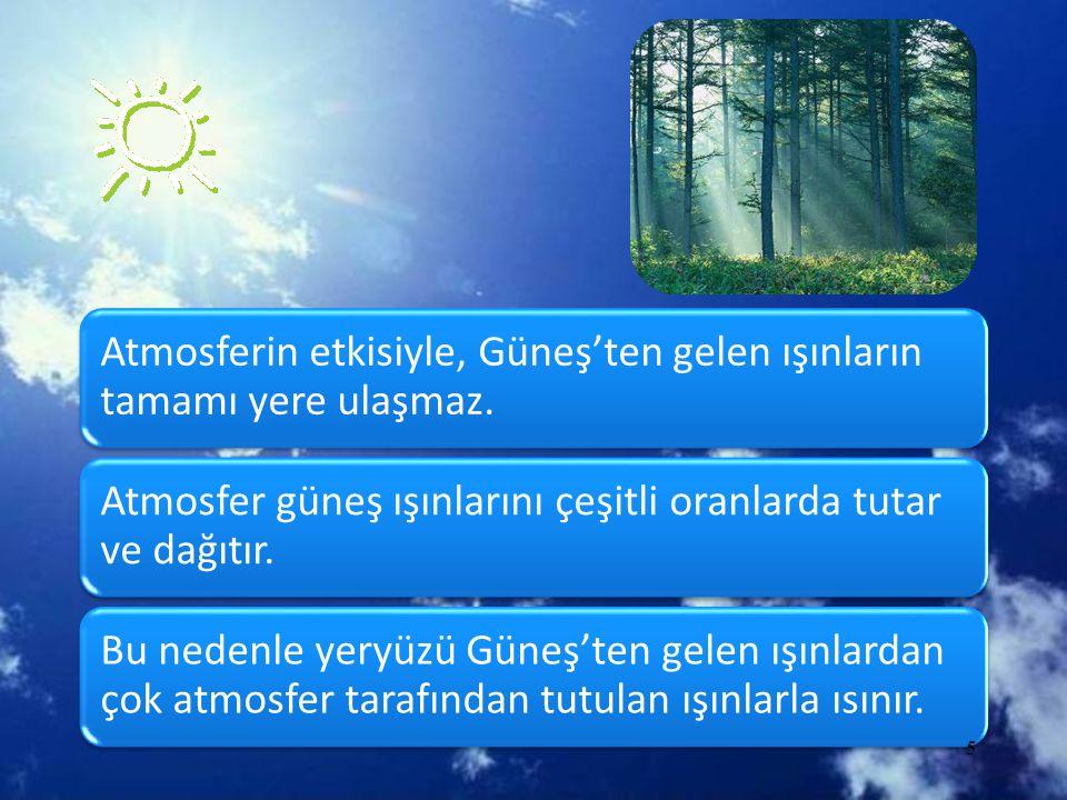 d.Bakı ve eğim •KYK' de dağların güney, GYK' de dağların kuzey yamaçları güneş ışınlarını daha dik alır ve fazla ısınır.