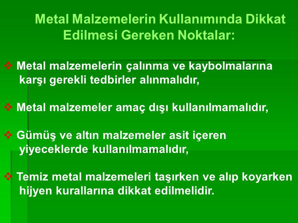 DİĞER METAL MALZEMELER