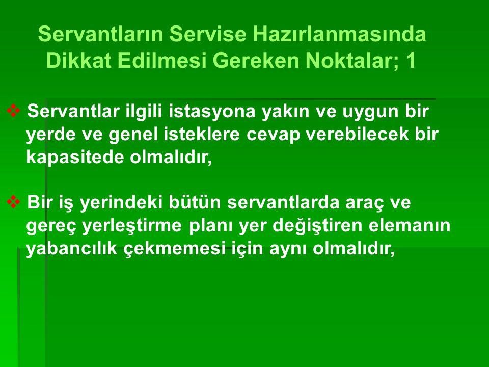 SERVANT ÇEŞİTLERİ Ana servant Posta servantı Geridon( Gueridon ) Geçiçi servant