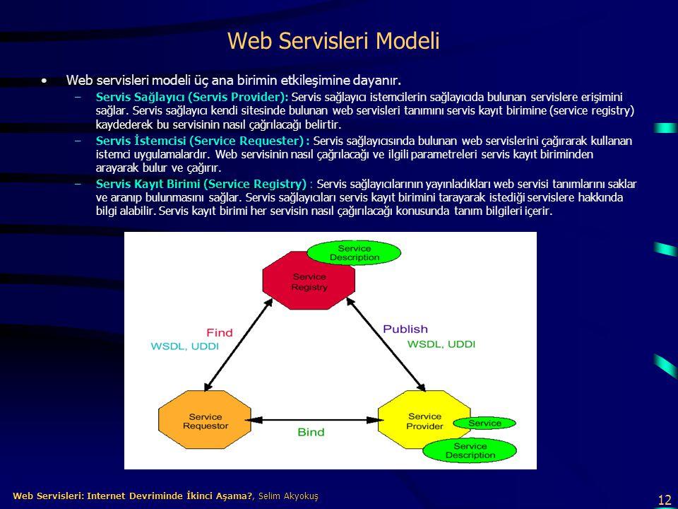 12 Web Servisleri: Internet Devriminde İkinci Aşama?, Selim Akyokuş Web Servisleri: Internet Devriminde İkinci Aşama?, Selim Akyokuş Web Servisleri Mo