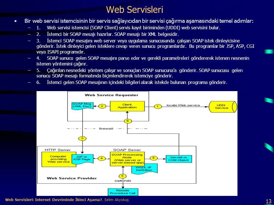 13 Web Servisleri: Internet Devriminde İkinci Aşama?, Selim Akyokuş Web Servisleri: Internet Devriminde İkinci Aşama?, Selim Akyokuş Web Servisleri •B