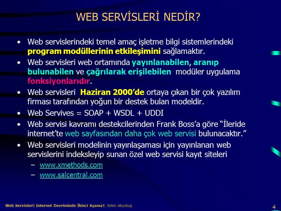 5 Web Servisleri: Internet Devriminde İkinci Aşama?, Selim Akyokuş Web Servisleri: Internet Devriminde İkinci Aşama?, Selim Akyokuş