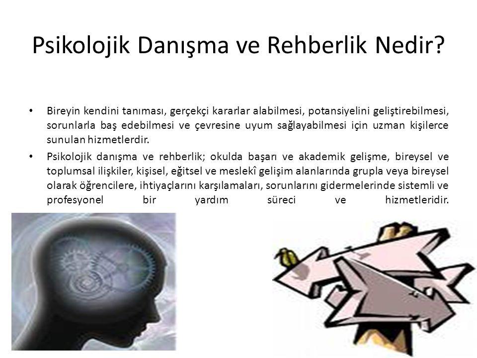 Psikolojik Danışmanlık ve Rehberlik Hizmetlerinin Amacı Nedir.