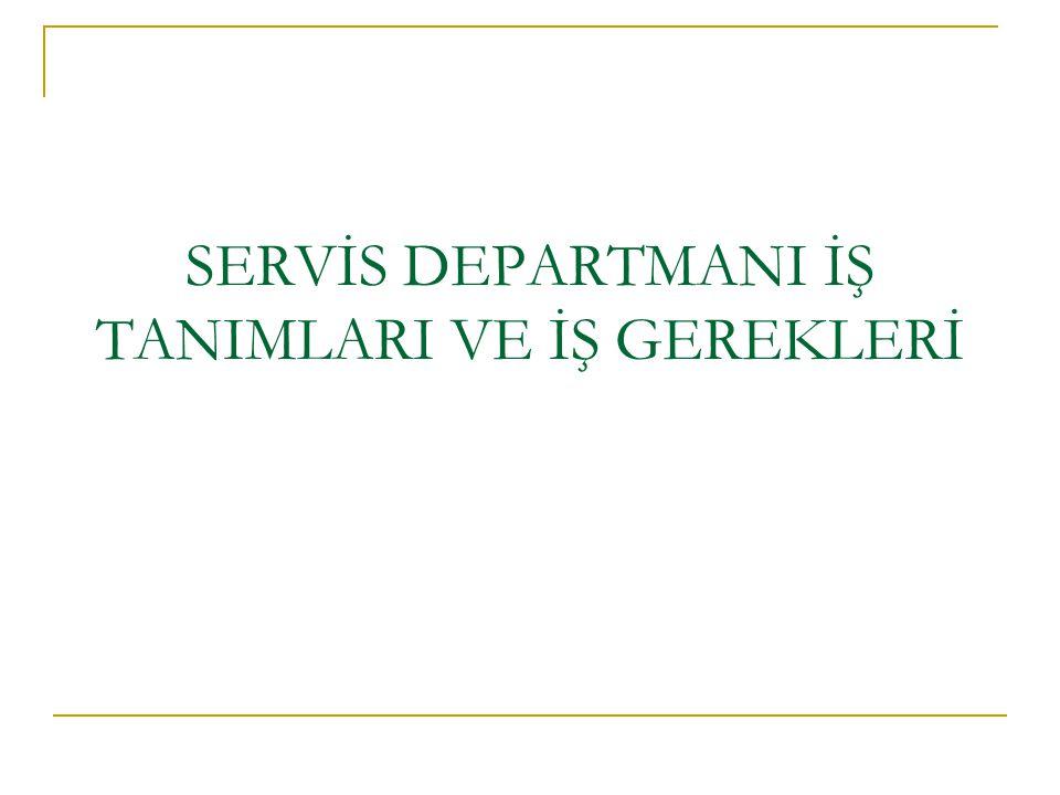 Servis departmanı org.