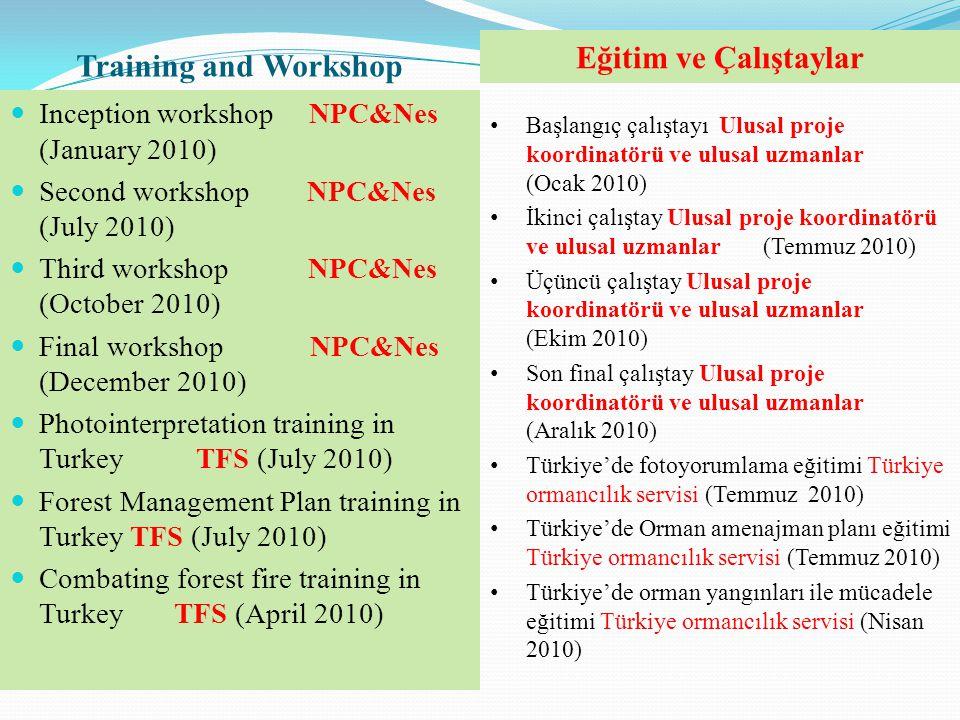 Training and Workshop  Inception workshop NPC&Nes (January 2010)  Second workshop NPC&Nes (July 2010)  Third workshop NPC&Nes (October 2010)  Fina