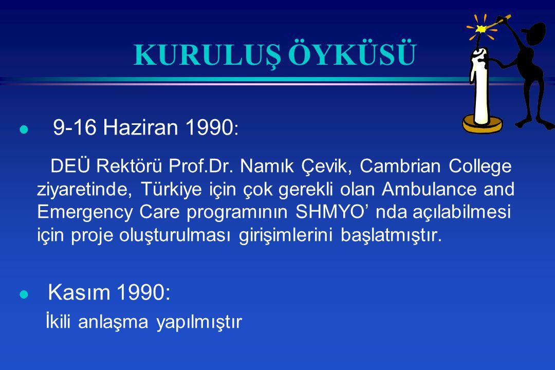 KURULUŞ ÖYKÜSÜ l 9-16 Haziran 1990 : DEÜ Rektörü Prof.Dr.