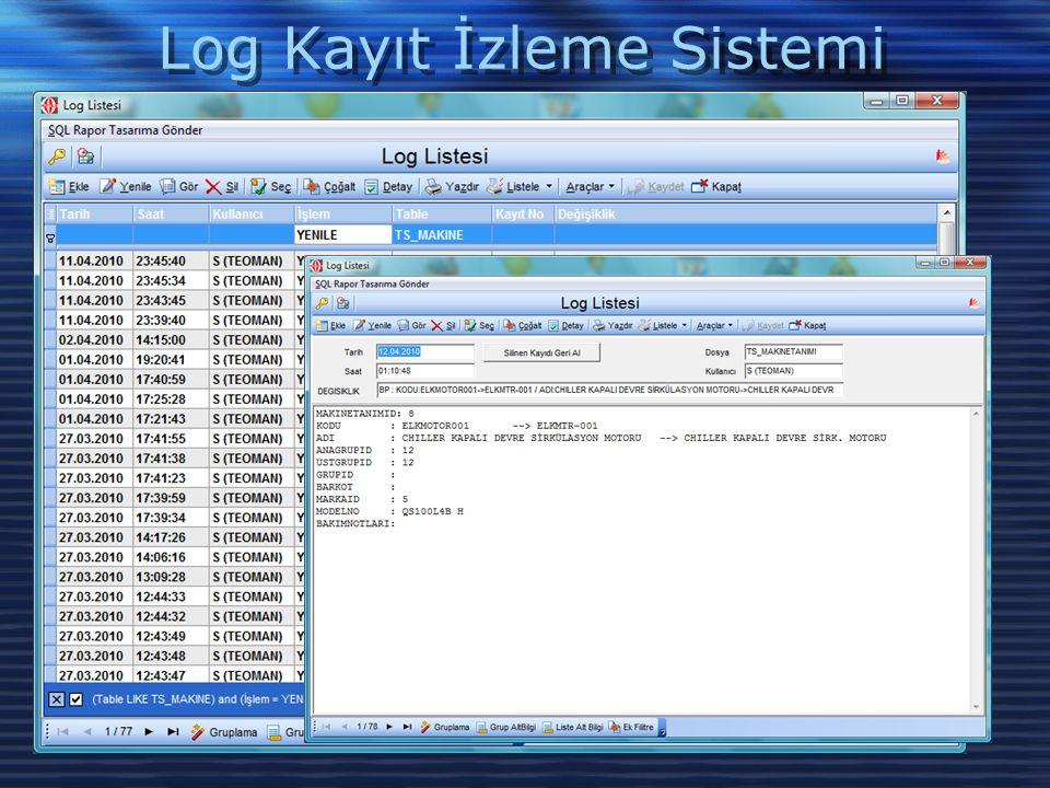 Log Kayıt İzleme Sistemi