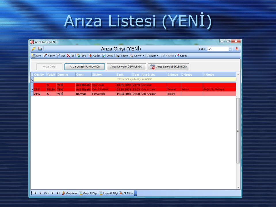 Teknik Servis ISO Formları *El Terminalleri ile bilgi toplamaya uygun.
