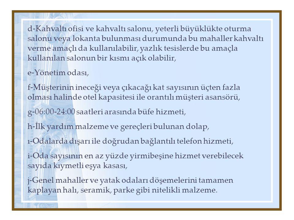 OTEL FONKSİYON ŞEMASI