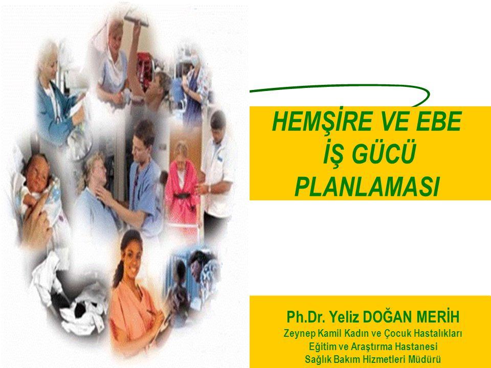 HEMŞİRE VE EBE İŞ GÜCÜ PLANLAMASI Ph.Dr. Yeliz DOĞAN MERİH Zeynep Kamil Kadın ve Çocuk Hastalıkları Eğitim ve Araştırma Hastanesi Sağlık Bakım Hizmetl