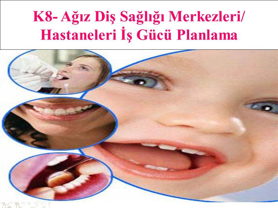 39 K8- Ağız Diş Sağlığı Merkezleri/ Hastaneleri İş Gücü Planlama