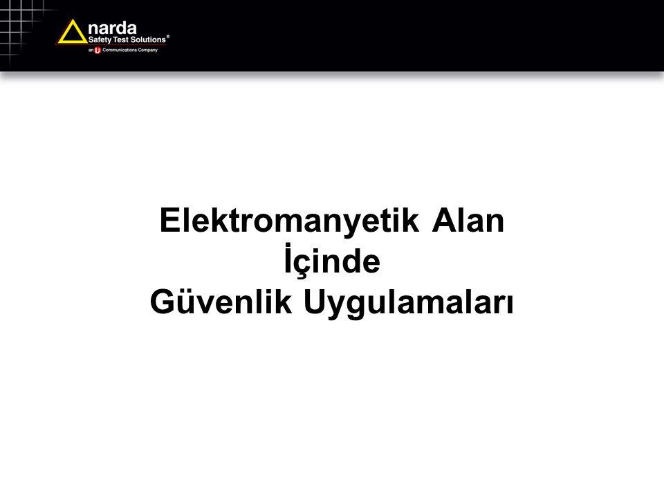 RF-Elektromanyetik Alan ölçümleri için örnek yönetmelikler Dünya:IEEE C95.3 http://standards.ieee.org Avrupa:ECC/REC/(02)04 http://www.ero.dk/documentation/docs/ docfiles.asp?docid=1908 • Halk sağlığı limit değerlerini kontrol altına almak amacıyla bu Avrupa prosedürü bazı ülkeler tarafından adapte edildi.