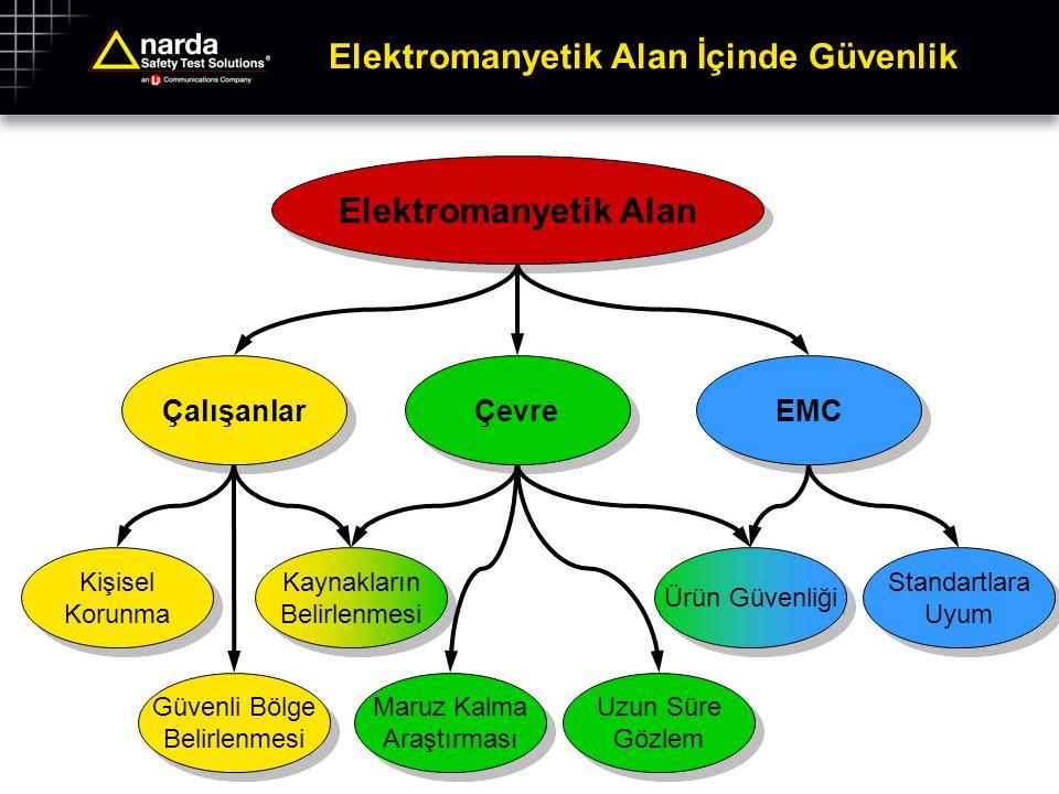 Elektromanyetik Alan İçinde Güvenlik Elektromanyetik Alan Çalışanlar Kişisel Korunma Güvenli Bölge Belirlenmesi Kaynakların Belirlenmesi Çevre EMC Uzu