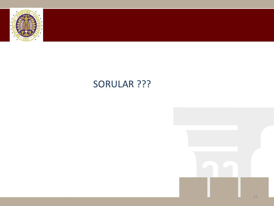 SORULAR ??? 31