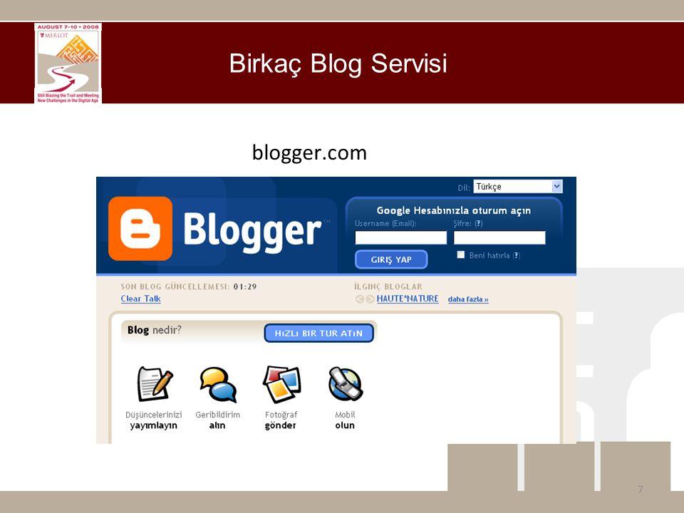 blogger.com Birkaç Blog Servisi 7