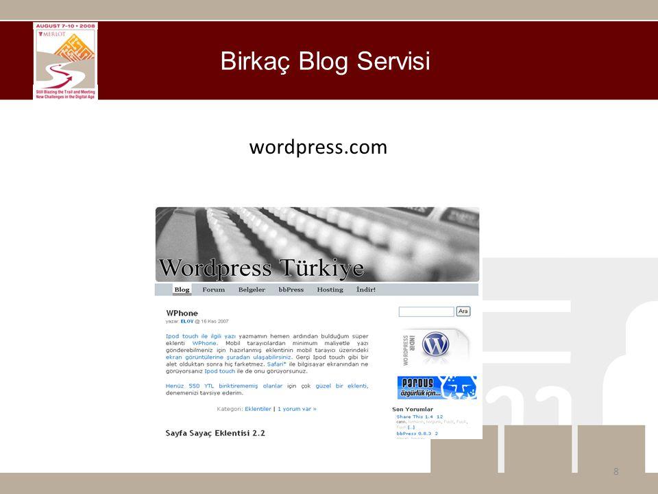 wordpress.com Birkaç Blog Servisi 8