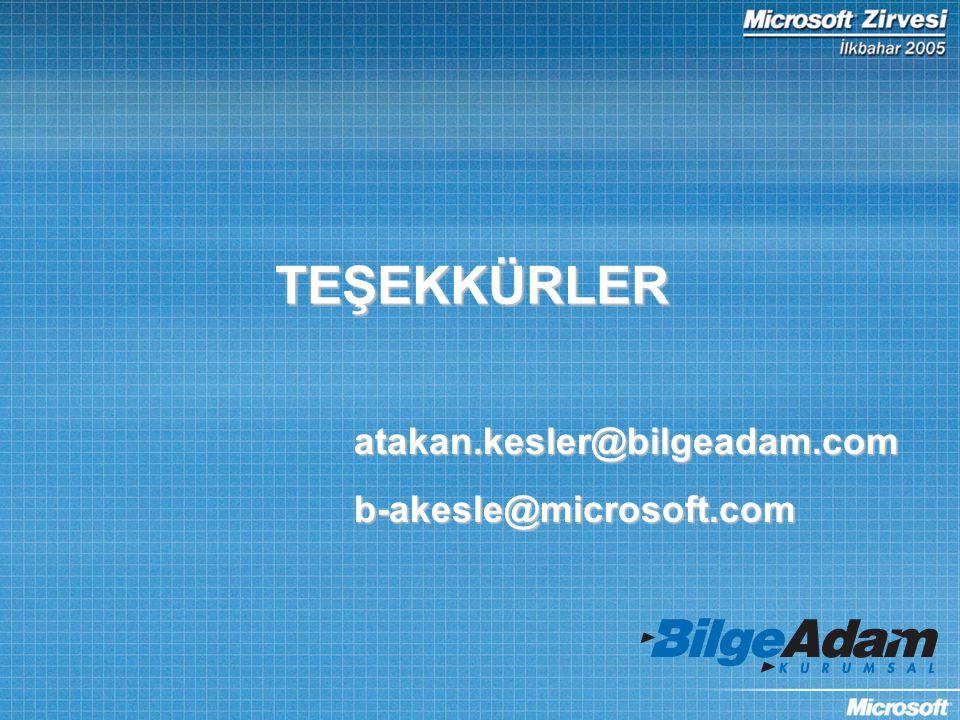 TEŞEKKÜRLER atakan.kesler@bilgeadam.comb-akesle@microsoft.com