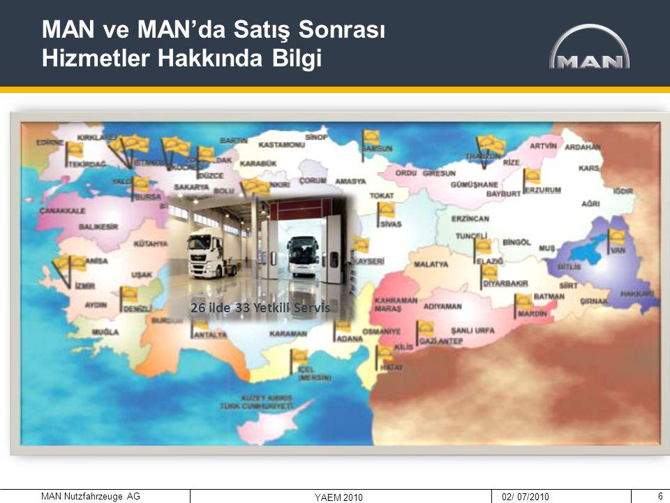 MAN Nutzfahrzeuge AG 02/ 07/2010 YAEM 2010 7  Man Kamyon & Otobüs Ticaret A.Ş'de Kurumsal Kaynak Planlaması Sistemi (ERP) olarak MANTRAS kullanılmaktadır.
