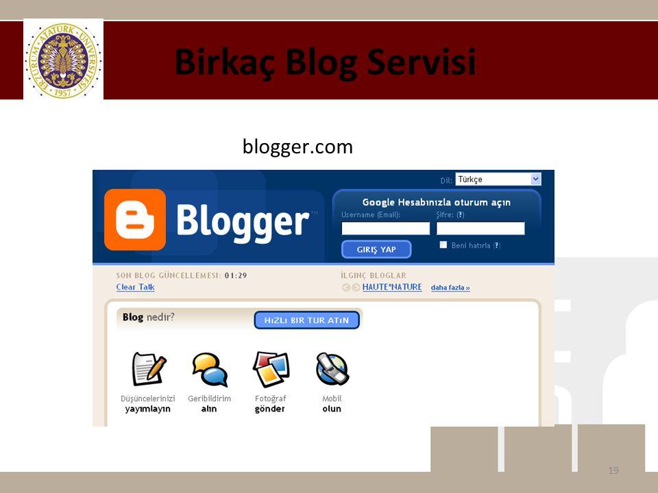 blogger.com Birkaç Blog Servisi 19
