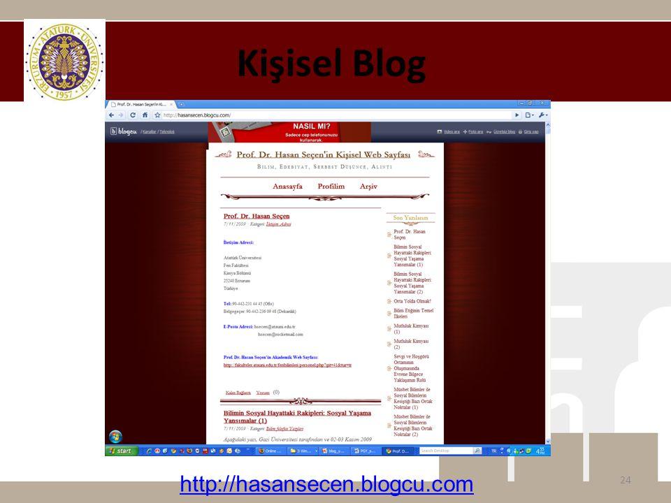 Kişisel Blog 24 http://hasansecen.blogcu.com